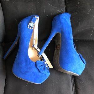 Blue Charlotte Russe heels.